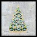 Jolly Christmas Tree art print poster with simple frame