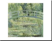 Water Lily Pond And Bridge art print poster with block mounting