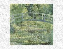 Water Lily Pond And Bridge art print poster transferred to canvas