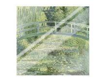 Water Lily Pond And Bridge art print poster with laminate