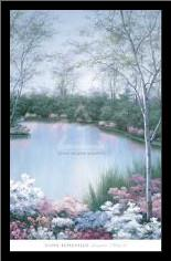 Springtime Melody III art print poster with simple frame