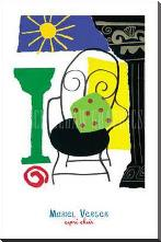 Capri Chair art print poster with block mounting