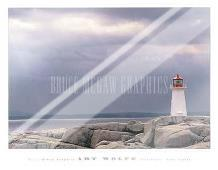 Lighthouse, Nova Scotia art print poster with laminate