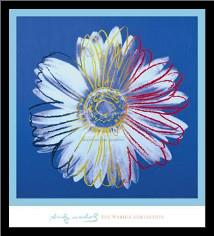 Daisy, C 1982 (Blue On Blue) art print poster with simple frame