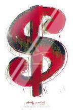 Dollar Sign, 1981 art print poster with laminate