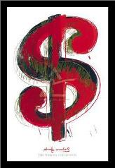Dollar Sign, 1981 art print poster with simple frame