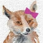 Foxy Lady Square art print poster transferred to canvas