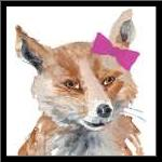 Foxy Lady Square art print poster with simple frame