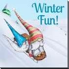 Winter Fun! art print poster with block mounting