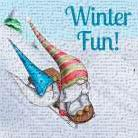 Winter Fun! art print poster transferred to canvas