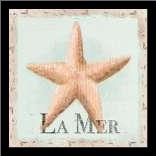 La Mer art print poster with simple frame
