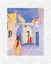 Regard Sur La Ruelle art print poster transferred to canvas