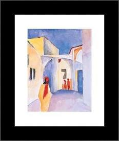 Regard Sur La Ruelle art print poster with simple frame