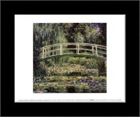 Nympheas Blancs art print poster with simple frame