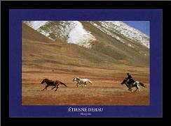 Mongolia art print poster with simple frame