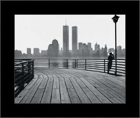 Jersey City Boardwalk art print poster with simple frame
