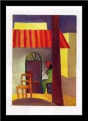 Turkish Cafe I art print poster with simple frame