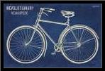 Blueprint Bicycle art print poster with simple frame