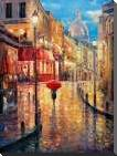 Montmartre Evening art print poster with block mounting