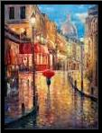Montmartre Evening art print poster with simple frame
