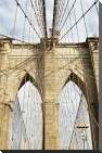 Brooklyn Bridge art print poster with block mounting