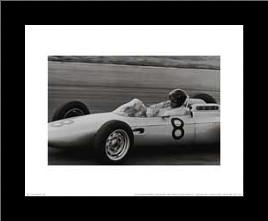 Dutch Grand Prix 1962 art print poster with simple frame