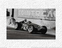 Grand Prix of Monaco 1956 art print poster transferred to canvas