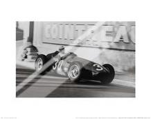 Grand Prix of Monaco 1956 art print poster with laminate