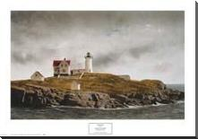 Nubble Light art print poster with block mounting