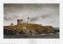 Nubble Light art print poster transferred to canvas
