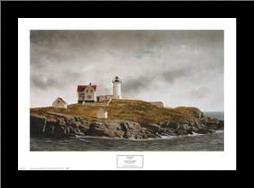 Nubble Light art print poster with simple frame
