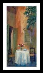 Petit Cafe art print poster with simple frame
