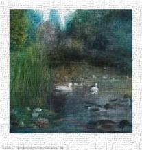 Walden Pond art print poster transferred to canvas
