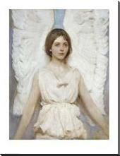 Angel art print poster with block mounting