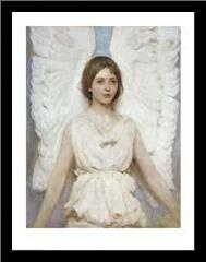 Angel art print poster with simple frame