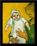 Van Gogh, VincentMadame Roulin and Her Baby art print poster with simple frame