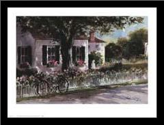 Edgartown Lane art print poster with simple frame