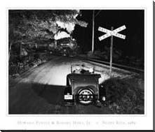 Night Ride art print poster with block mounting