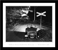 Night Ride art print poster with simple frame