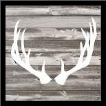 Antler Art I art print poster with simple frame
