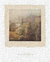 Garden Palms I art print poster transferred to canvas