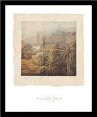 Garden Palms I art print poster with simple frame