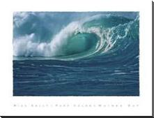 Waimea Bay art print poster with block mounting