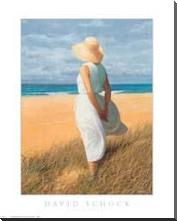 Looking to Sea art print poster with block mounting