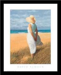 Looking to Sea art print poster with simple frame