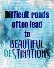 Beautiful Destinations art print poster transferred to canvas