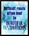 Beautiful Destinations art print poster with simple frame
