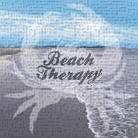 Beach Therapy art print poster transferred to canvas