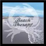Beach Therapy art print poster with simple frame