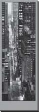 47Th Street Evening art print poster with block mounting